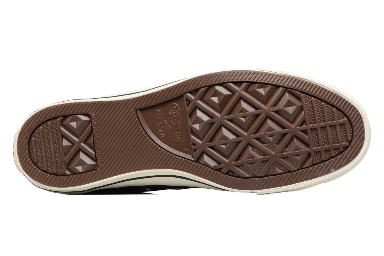 Sneaker Converse Chuck Taylor All Star Coated Leather Hi schwarz ansicht von oben