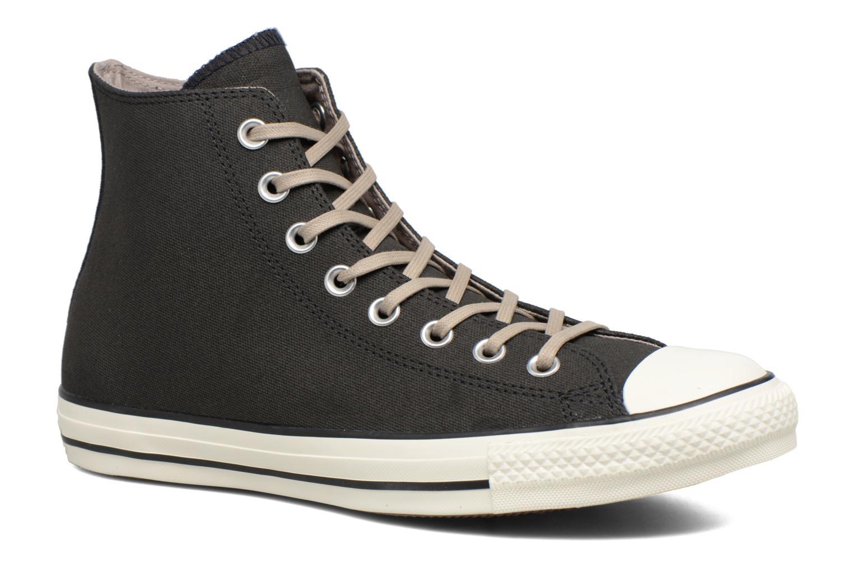 Baskets Converse Chuck Taylor All Star Coated Leather Hi Noir vue détail/paire