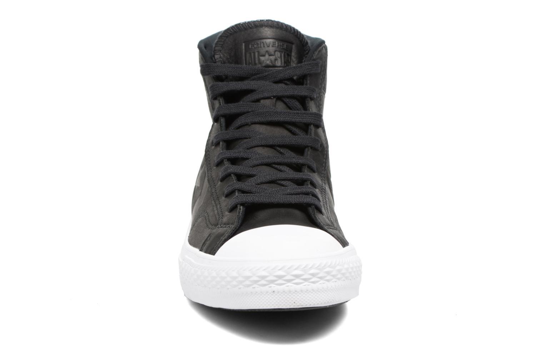 Sneaker Converse Star Player Leather Hi schwarz schuhe getragen