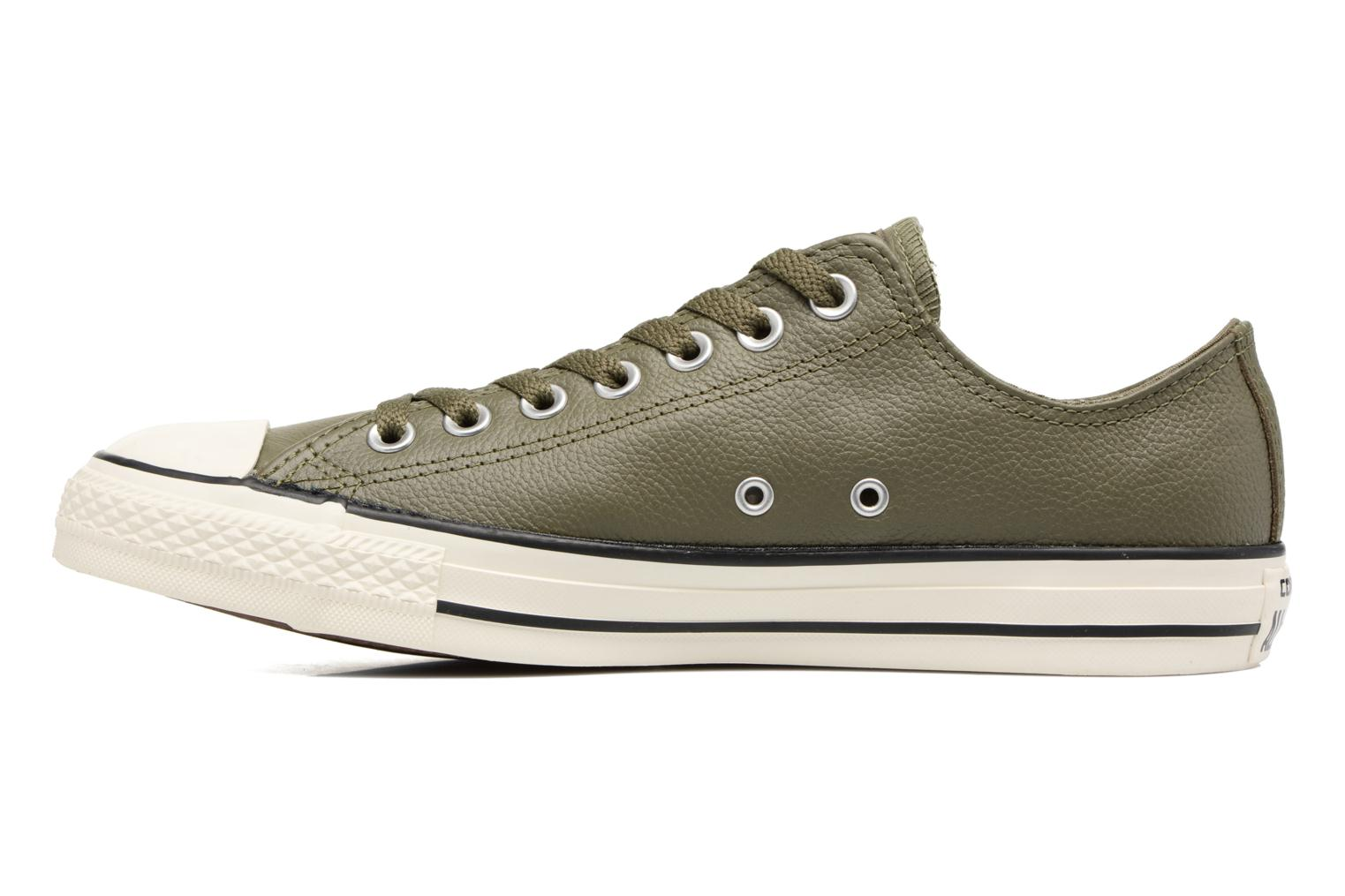 Baskets Converse Chuck Taylor All Star Tumble Leather Ox Vert vue face