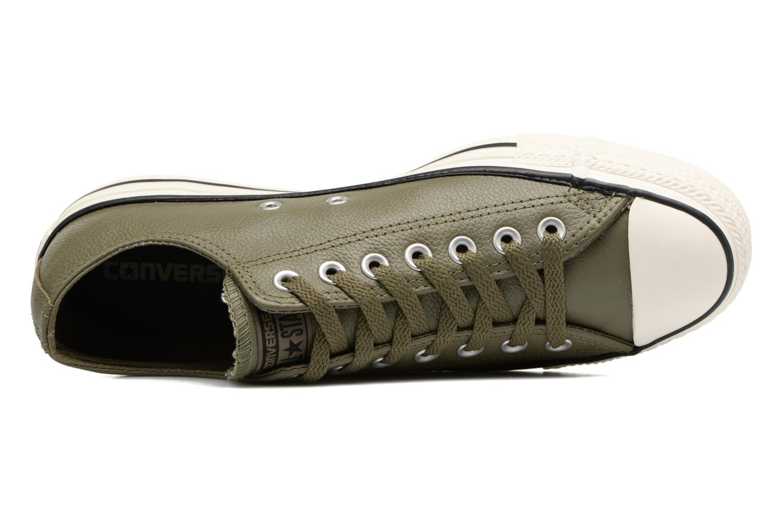 Sneaker Converse Chuck Taylor All Star Tumble Leather Ox grün ansicht von links