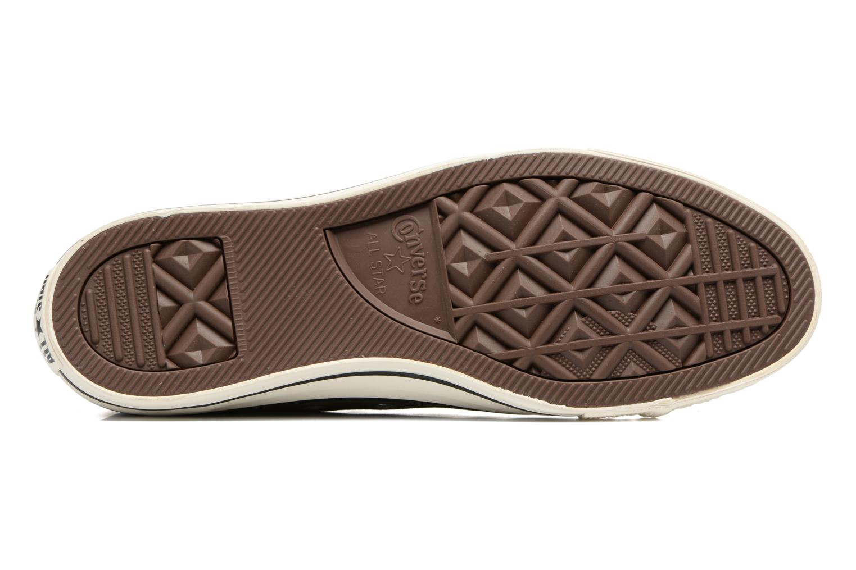 Sneaker Converse Chuck Taylor All Star Tumble Leather Ox grün ansicht von oben