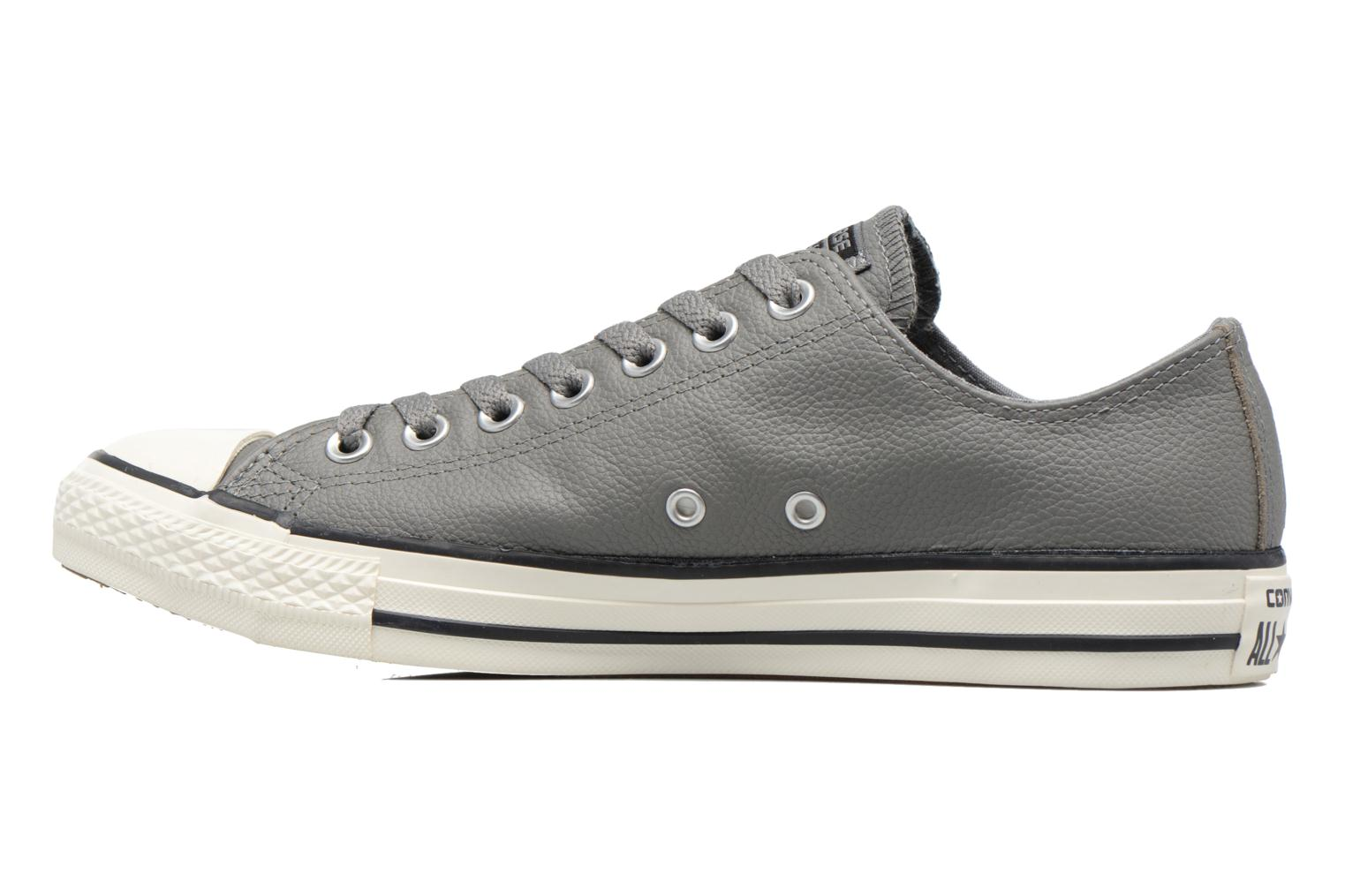Baskets Converse Chuck Taylor All Star Tumble Leather Ox Gris vue face