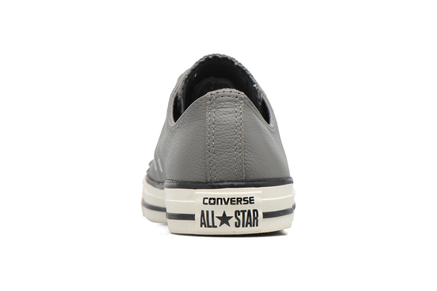 Baskets Converse Chuck Taylor All Star Tumble Leather Ox Gris vue droite