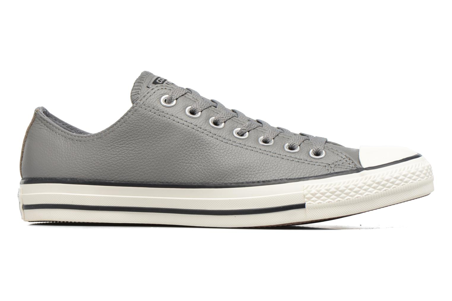 Baskets Converse Chuck Taylor All Star Tumble Leather Ox Gris vue derrière