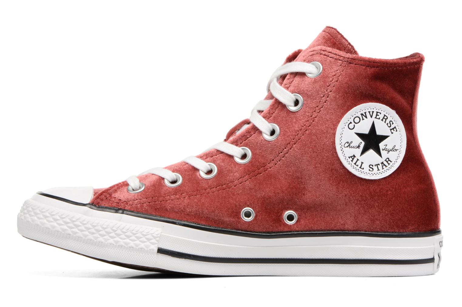 Baskets Converse Chuck Taylor All Star Velvet Hi Bordeaux vue face
