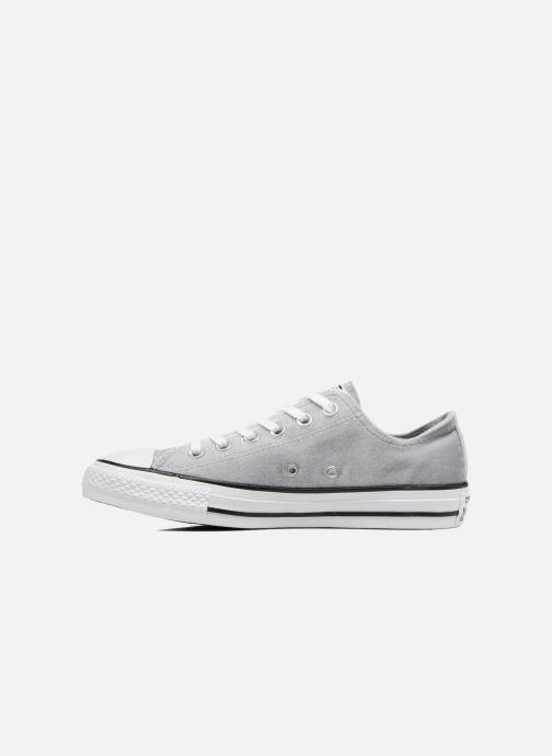 Sneaker Converse Chuck Taylor All Star Velvet Ox grau ansicht von vorne