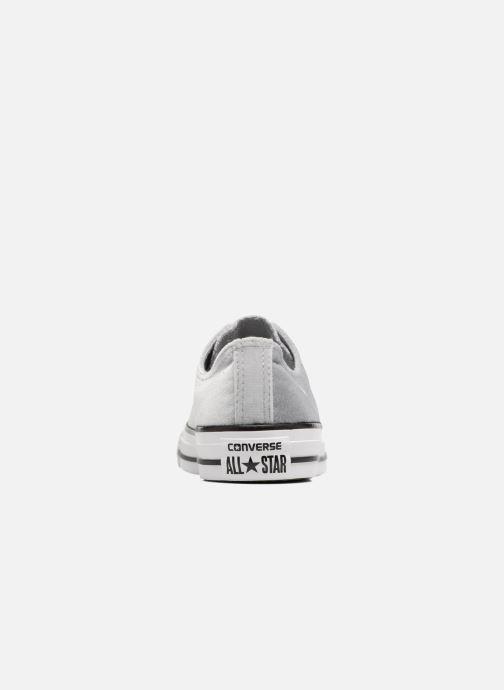 Sneaker Converse Chuck Taylor All Star Velvet Ox grau ansicht von rechts
