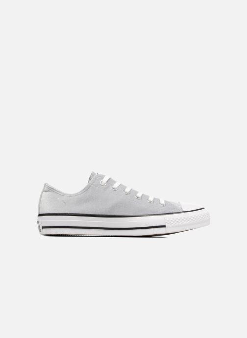 Sneaker Converse Chuck Taylor All Star Velvet Ox grau ansicht von hinten