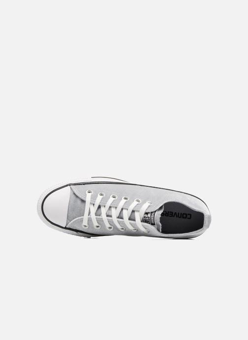 Sneaker Converse Chuck Taylor All Star Velvet Ox grau ansicht von links