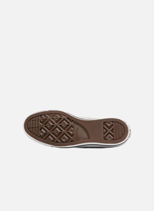 Sneaker Converse Chuck Taylor All Star Velvet Ox grau ansicht von oben
