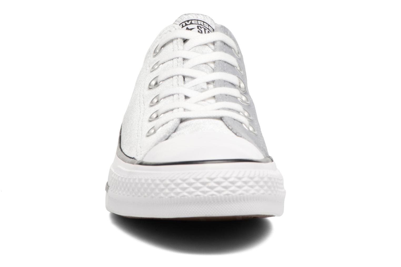 Baskets Converse Chuck Taylor All Star Velvet Ox Gris vue portées chaussures