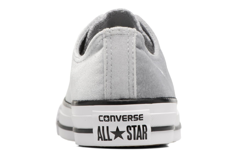 Baskets Converse Chuck Taylor All Star Velvet Ox Gris vue droite