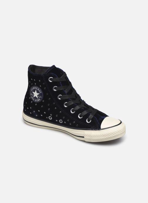 10794c8783f Sneakers Converse Chuck Taylor All Star Velvet Studs Hi Blå detaljerad bild  på paret