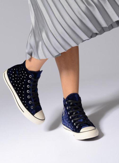 Sneakers Converse Chuck Taylor All Star Velvet Studs Hi Bordeaux onder