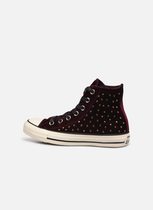 5a2c95bf32c9 Trainers Converse Chuck Taylor All Star Velvet Studs Hi Burgundy front view