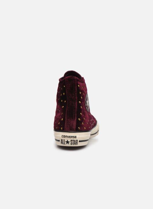Sneakers Converse Chuck Taylor All Star Velvet Studs Hi Bordeaux rechts