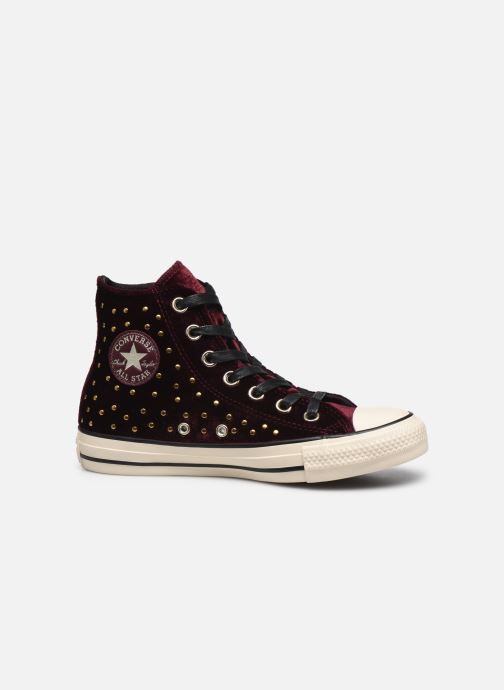 Trainers Converse Chuck Taylor All Star Velvet Studs Hi Burgundy back view