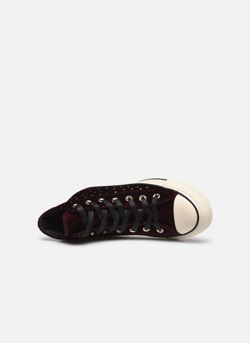 Trainers Converse Chuck Taylor All Star Velvet Studs Hi Burgundy view from the left