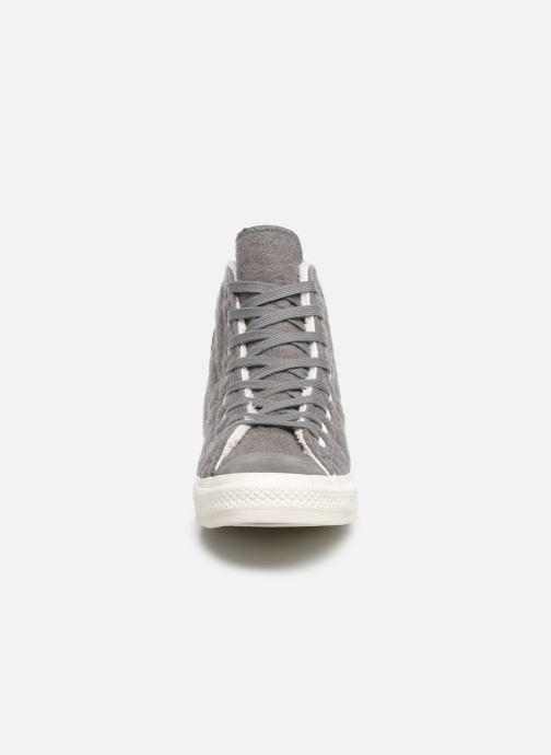 Sneakers Converse Chuck Taylor All Star Wool Hi Grigio modello indossato