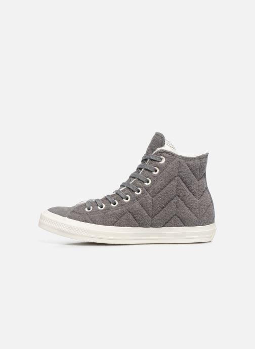 Sneakers Converse Chuck Taylor All Star Wool Hi Grijs voorkant