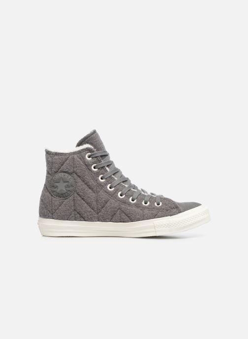 Sneakers Converse Chuck Taylor All Star Wool Hi Grijs achterkant