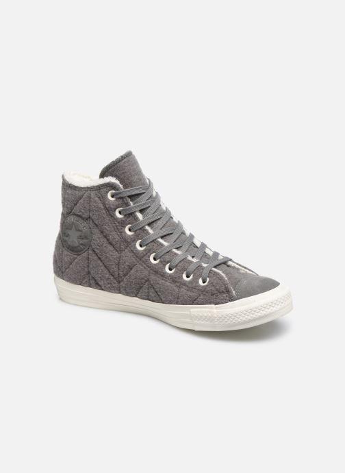 Sneakers Converse Chuck Taylor All Star Wool Hi Grijs detail