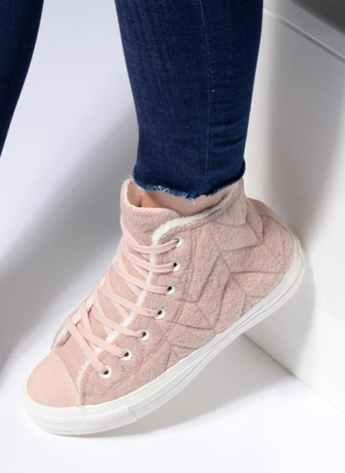 Sneakers Converse Chuck Taylor All Star Wool Hi Rosa immagine dal basso