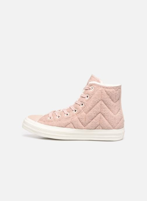 Sneakers Converse Chuck Taylor All Star Wool Hi Rosa immagine frontale
