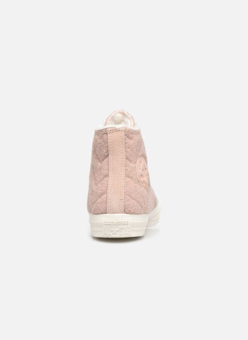 Baskets Converse Chuck Taylor All Star Wool Hi Rose vue droite