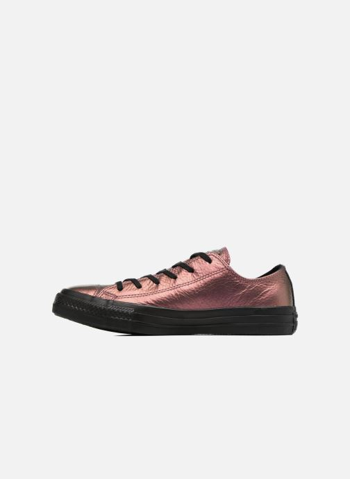 Trainers Converse Chuck Taylor All Star Iridescent Leather Ox Pink front view