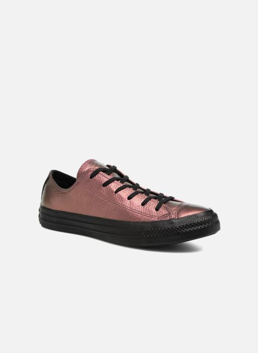 Trainers Converse Chuck Taylor All Star Iridescent Leather Ox Pink detailed view/ Pair view
