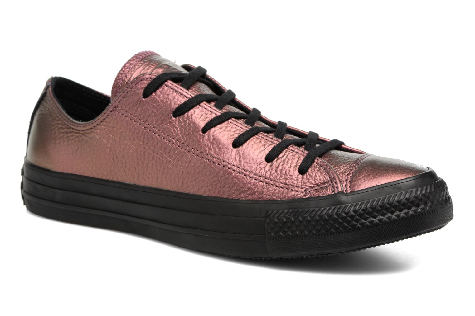Baskets Converse Chuck Taylor All Star Iridescent Leather Ox Rose vue détail/paire