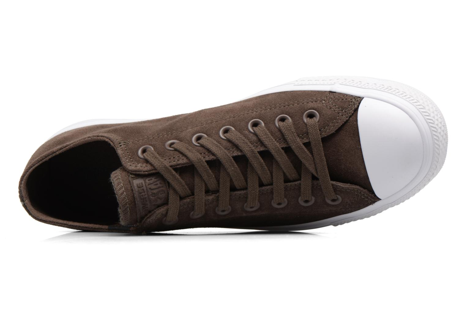 Baskets Converse Chuck Taylor All Star Plush Suede Ox Marron vue gauche