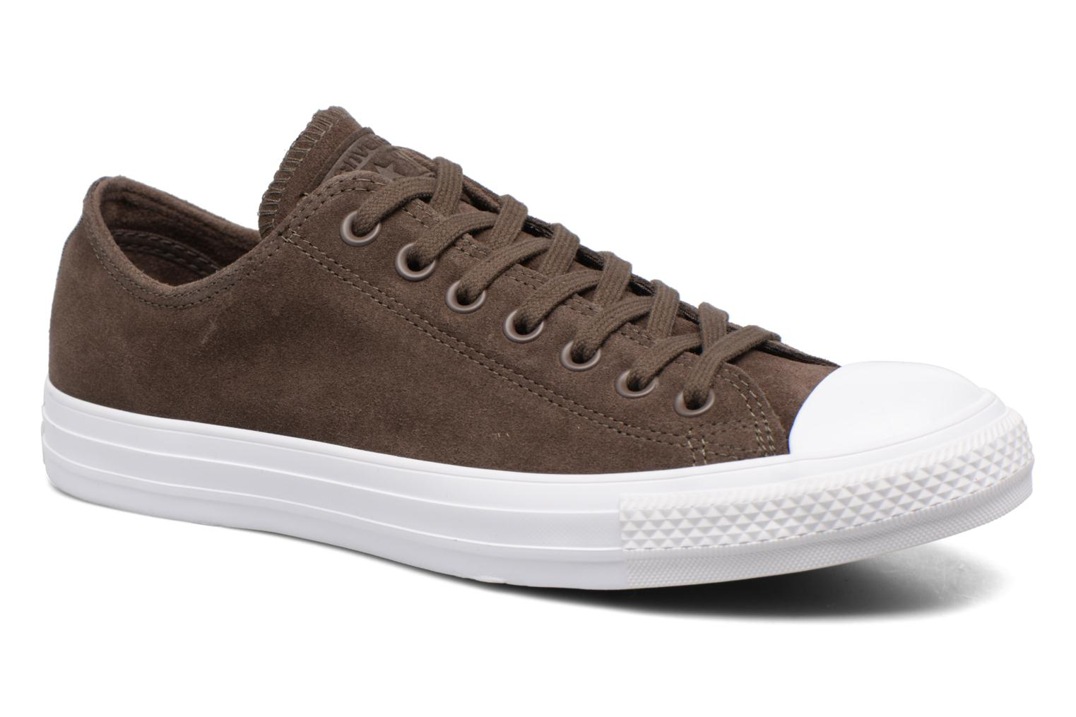 Baskets Converse Chuck Taylor All Star Plush Suede Ox Marron vue détail/paire