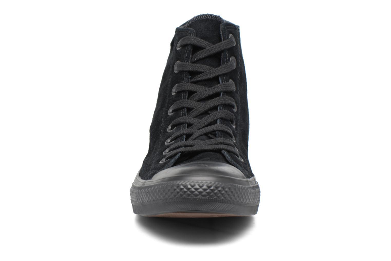 Baskets Converse Chuck Taylor All Star Plush Suede Hi Noir vue portées chaussures
