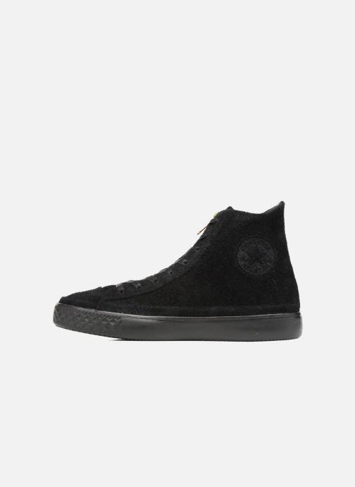 Sneaker Converse Chuck Taylor All Star Modern Coated Suede Zip Hi schwarz ansicht von vorne