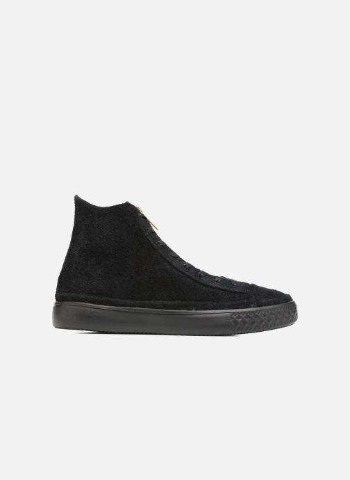 Sneaker Converse Chuck Taylor All Star Modern Coated Suede Zip Hi schwarz ansicht von hinten