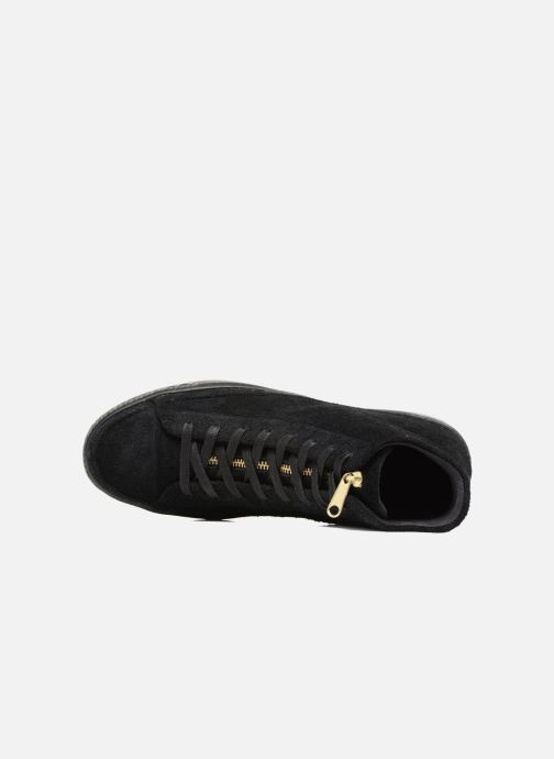 Sneakers Converse Chuck Taylor All Star Modern Coated Suede Zip Hi Zwart links