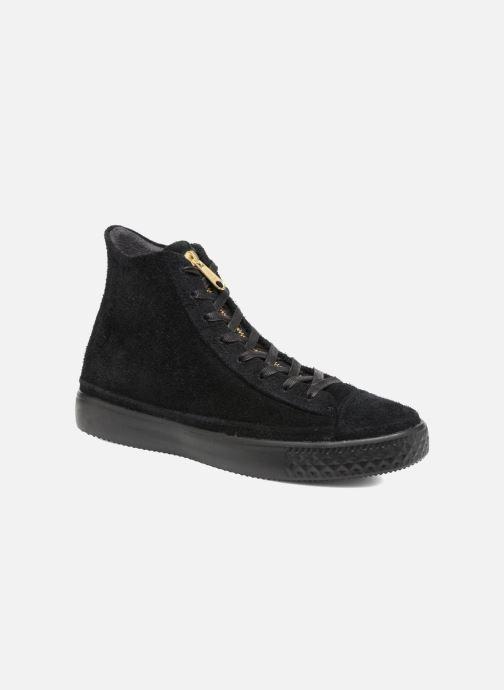 Sneakers Converse Chuck Taylor All Star Modern Coated Suede Zip Hi Zwart detail