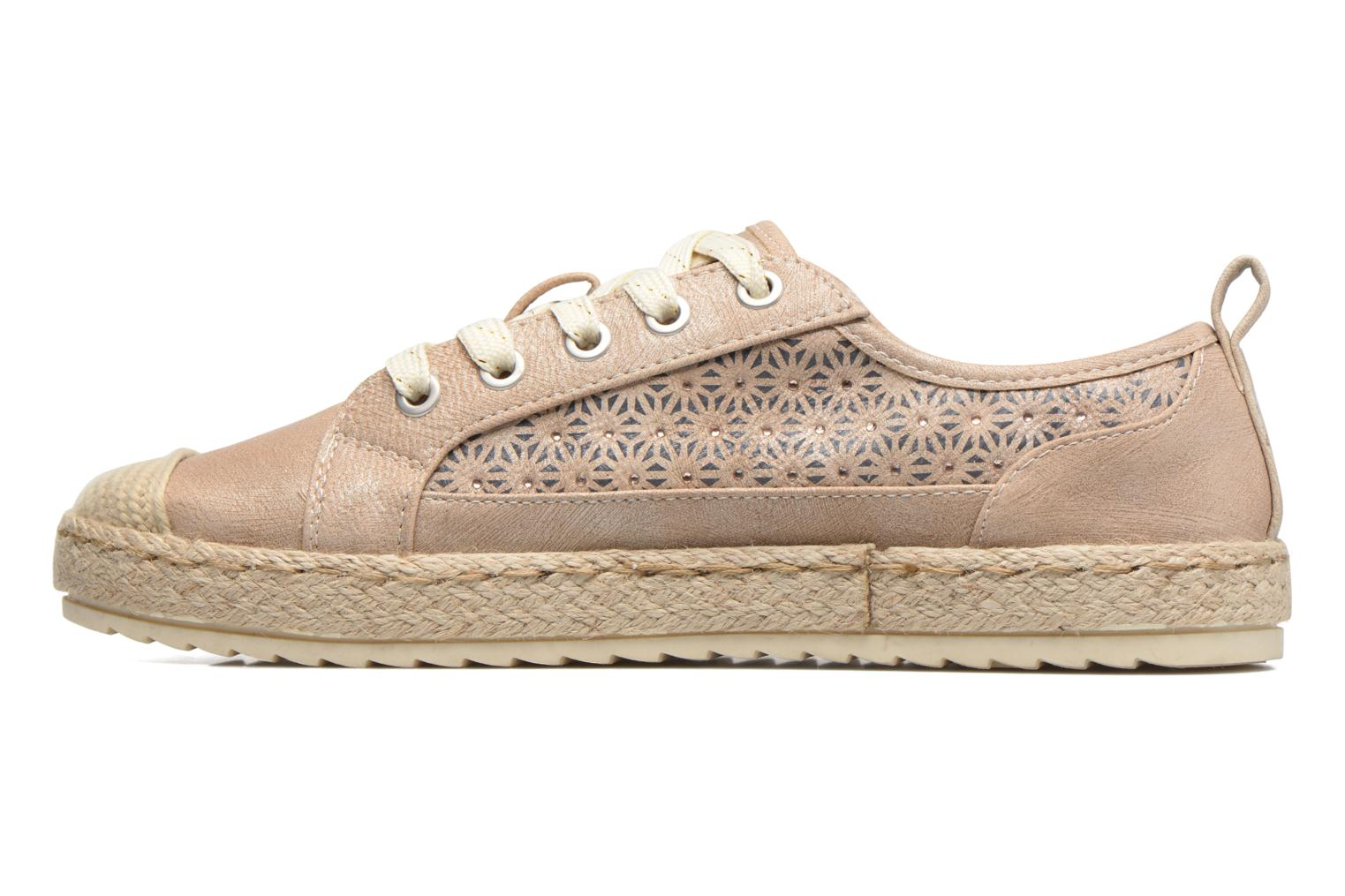 Espadrilles Mustang shoes Padrille Beige front view