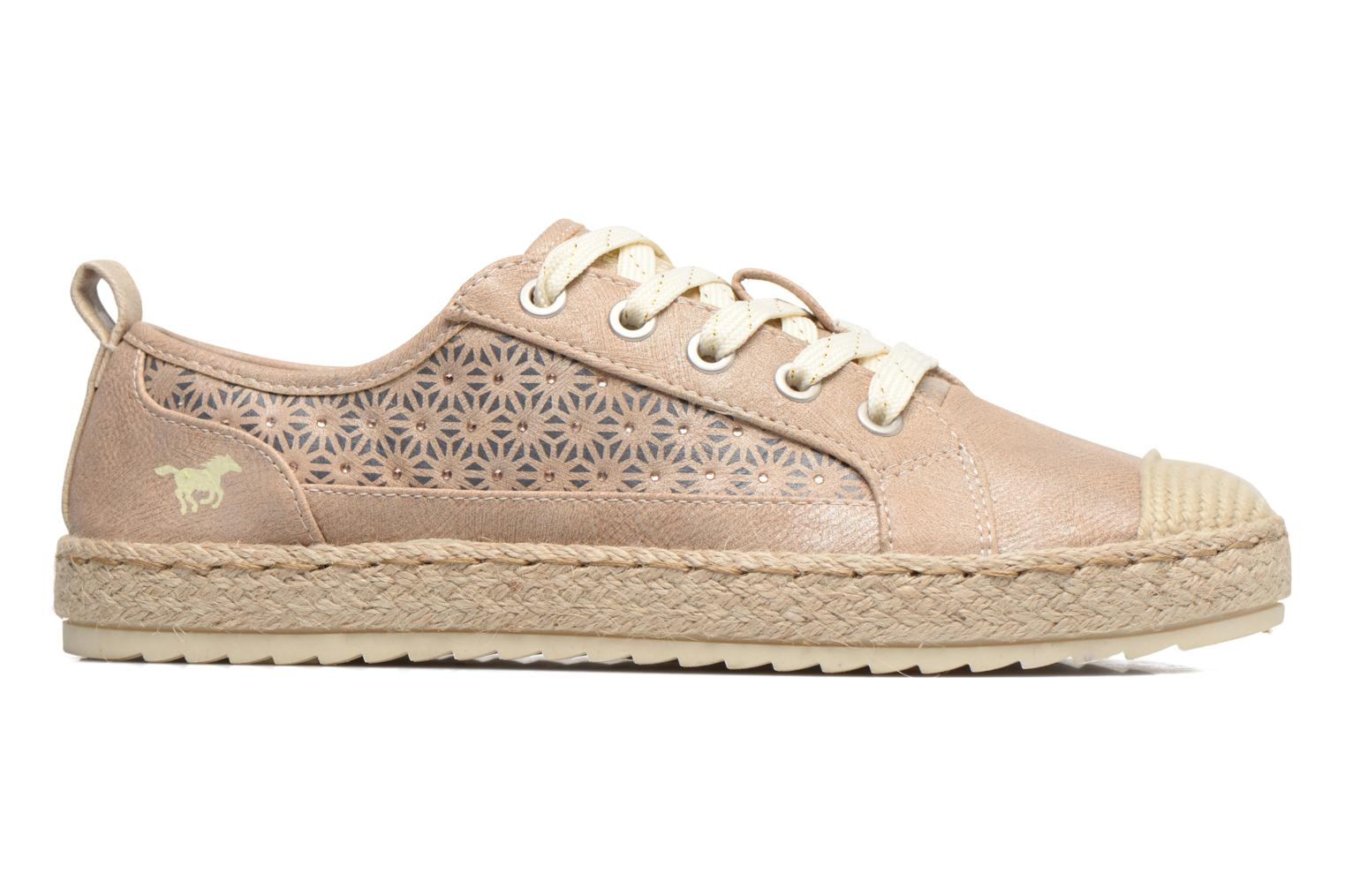 Espadrilles Mustang shoes Padrille Beige back view