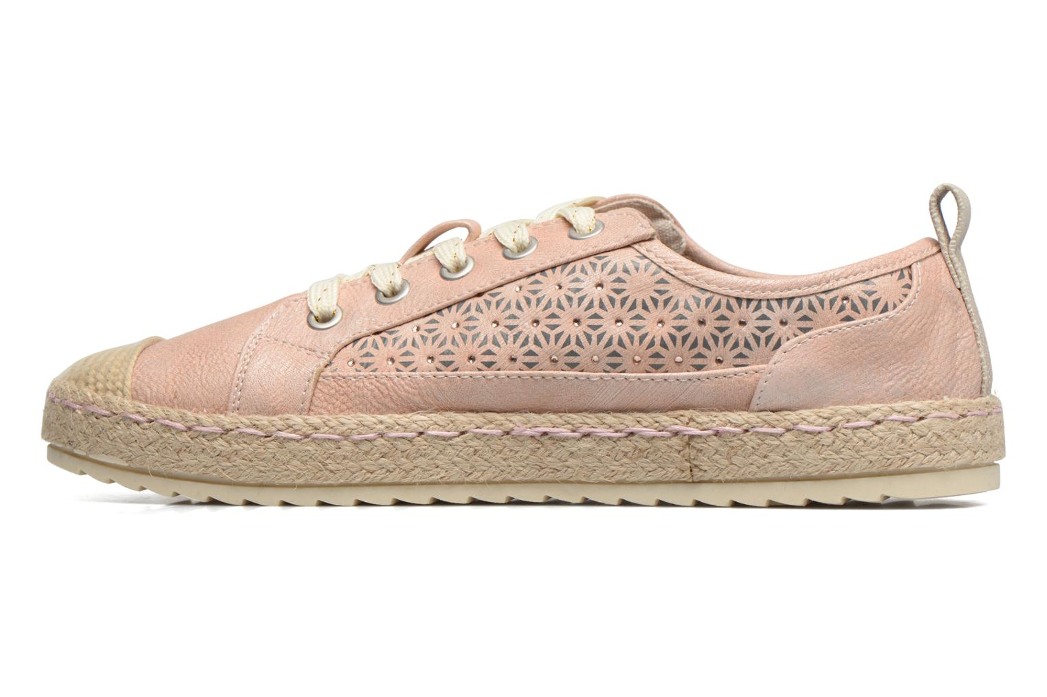 Espadrilles Mustang shoes Padrille Rose vue face