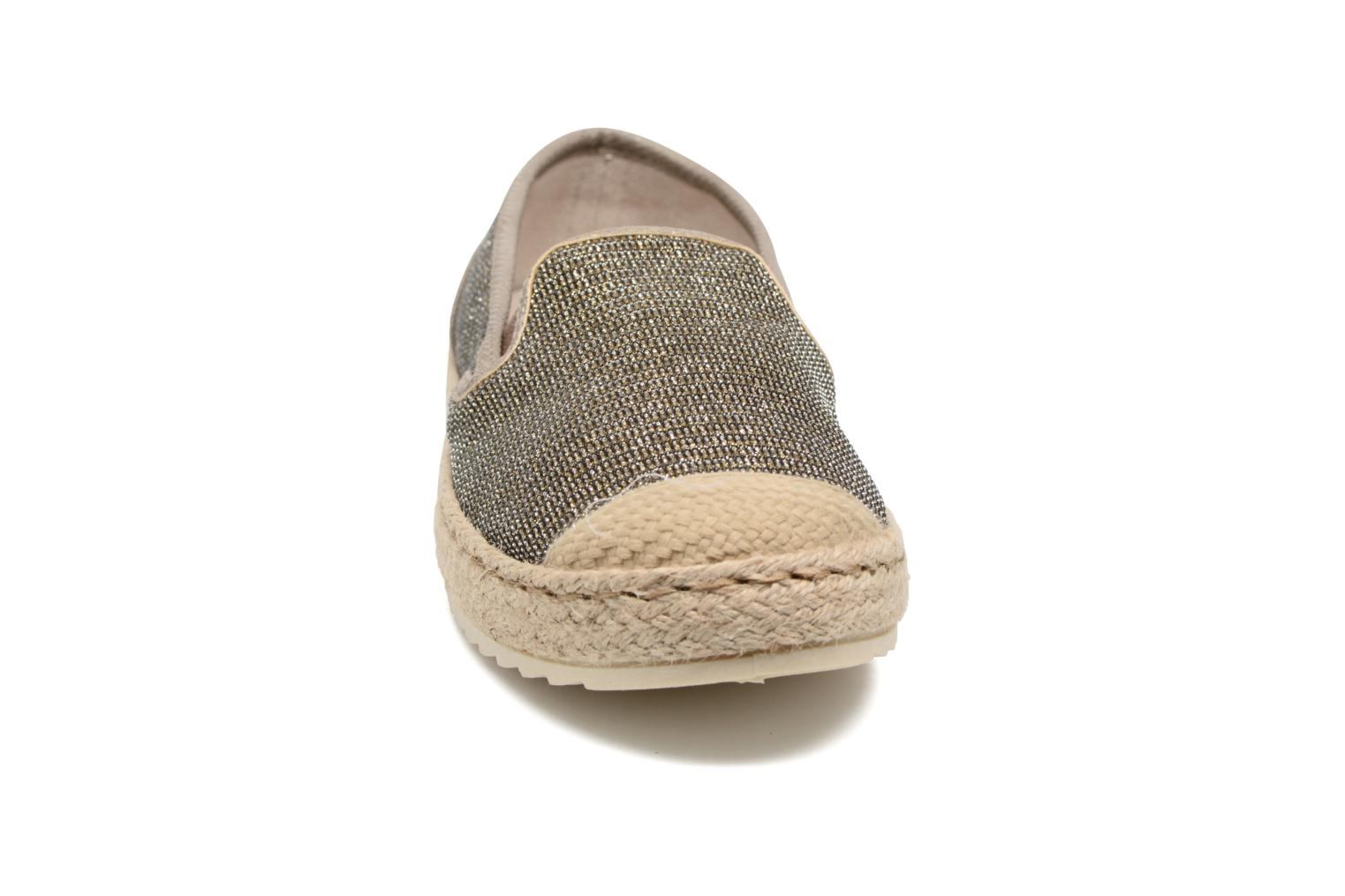 Espadrilles Mustang shoes Mocca Bronze and Gold model view