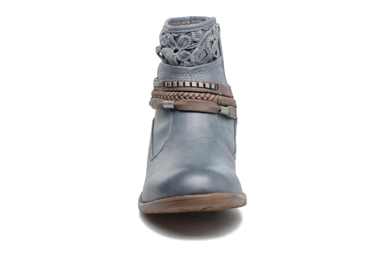 Bottines et boots Mustang shoes Moémo W Bleu vue portées chaussures
