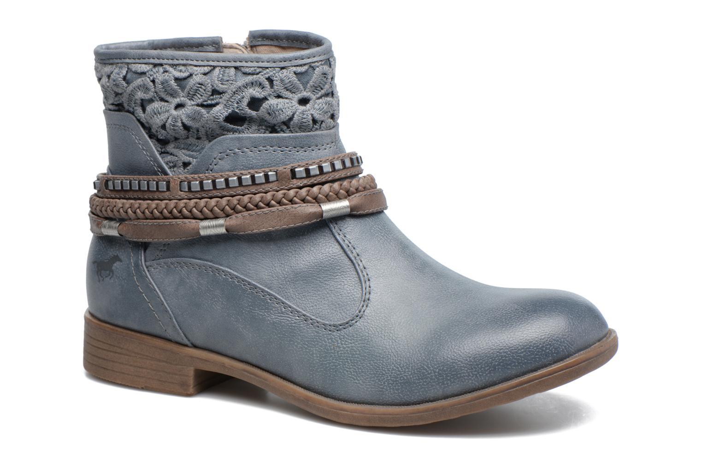Bottines et boots Mustang shoes Moémo W Bleu vue détail/paire