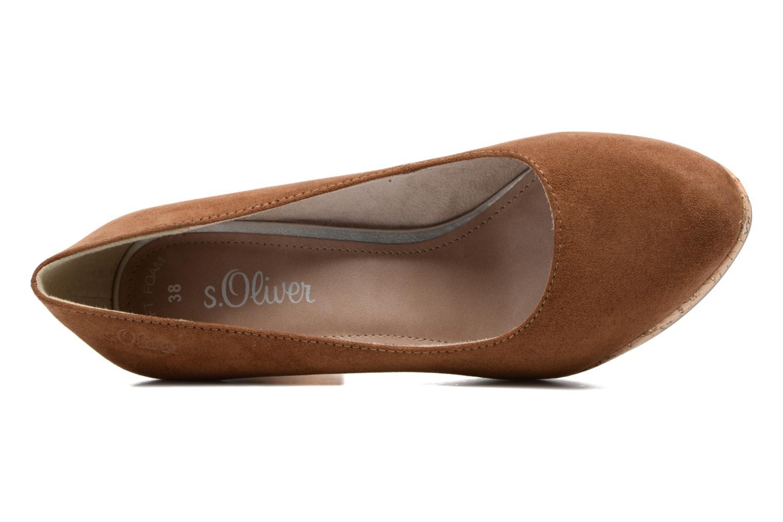 Zapatos de tacón S.Oliver Petrus Marrón vista lateral izquierda