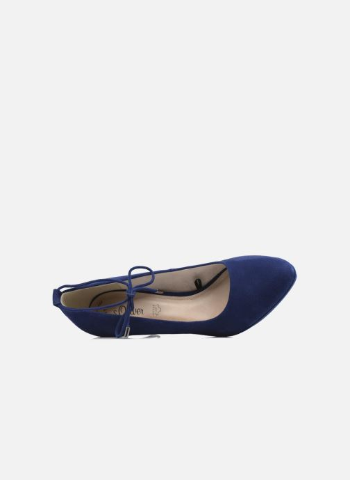 High heels S.Oliver Valentina Blue view from the left