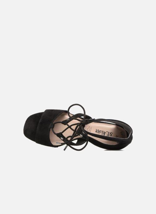 Sandales et nu-pieds S.Oliver Paula Noir vue gauche