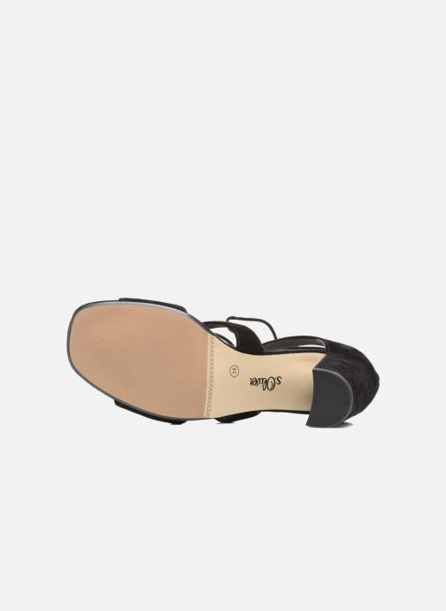Sandales et nu-pieds S.Oliver Paula Noir vue haut
